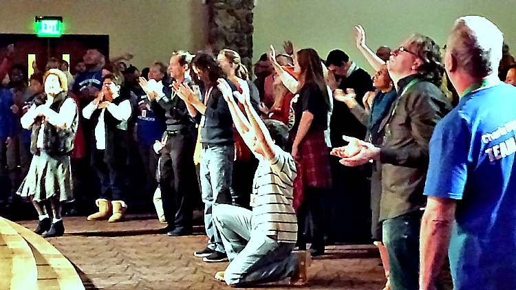 People praising God for His healing power