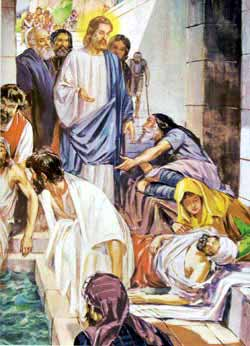 Photo Of Bible Story Of Lame Man Being Healed