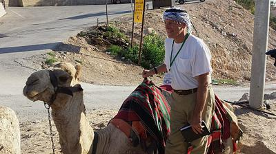 Bible teacher, Larry, in Israel
